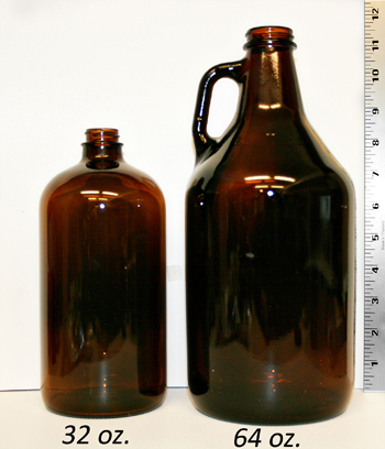 jug size comparison in ounces