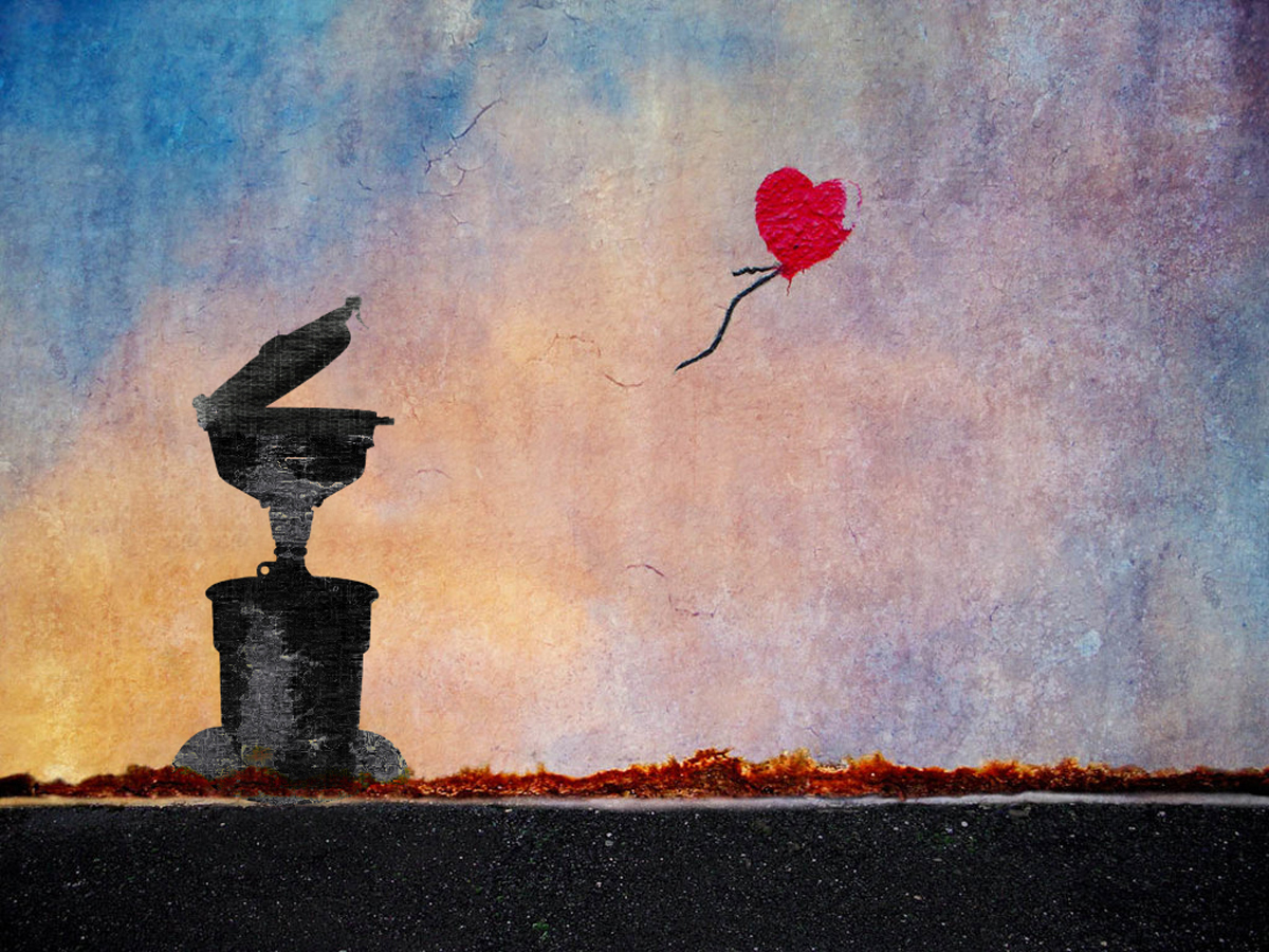 ECO Funnel and Balloon, Banksy