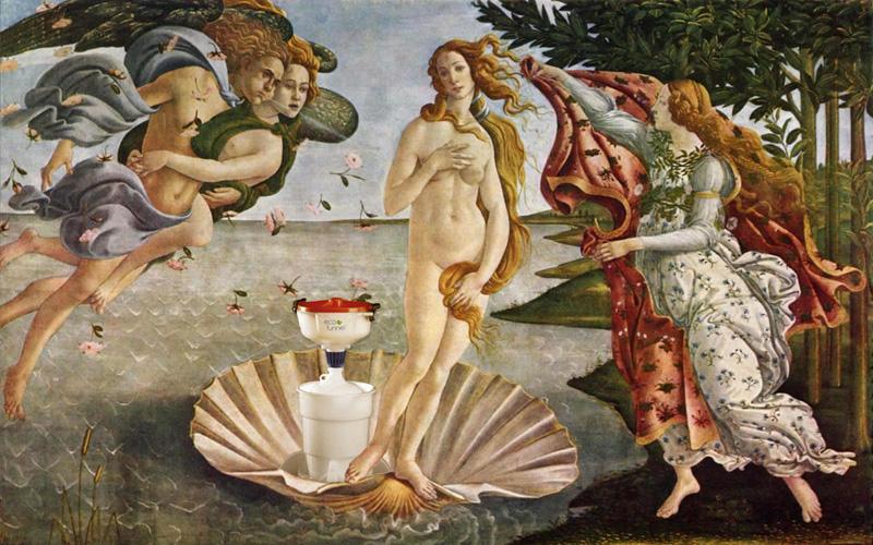 ECO Funnel and the Birth of Venus, Botticelli