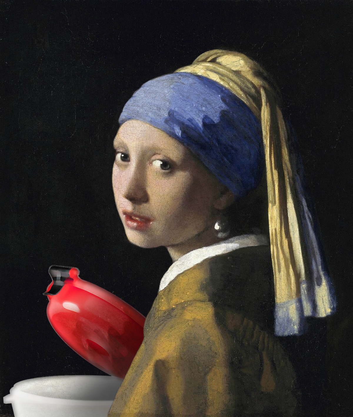 >Girl with a Pearl Earring, and ECO Funnel, Vermeer