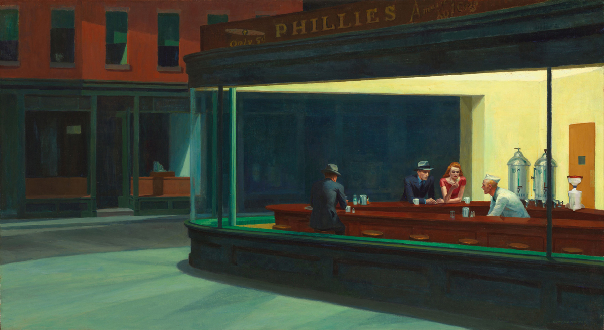 Nighthawks, with ECO Funnel, Hopper