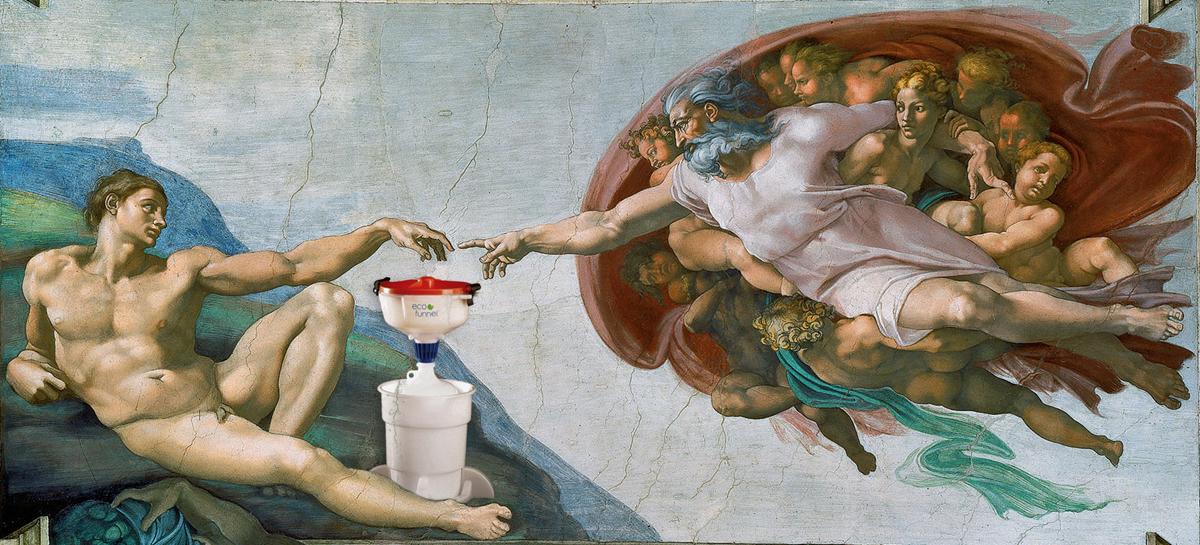 Sistine Chapel, Birth of ECO Funnel, Michelangelo